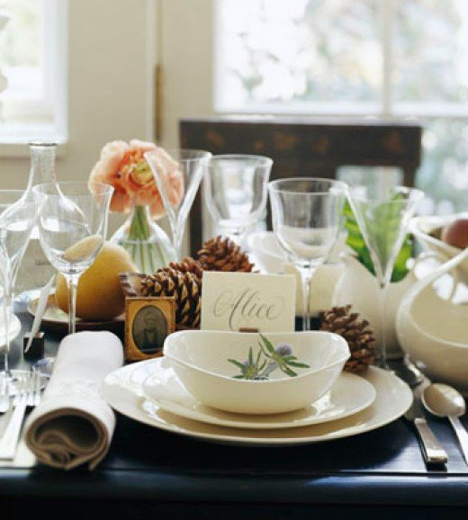 Fine china adds to the festivity
