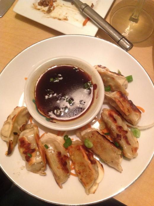 Gyoza (Pork dumplings).