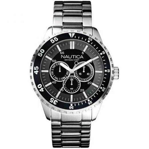 Nautica – Men's NCS600 Chronograph Black/Grey Dial