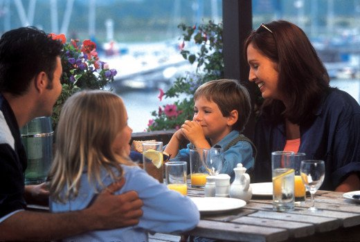 According to bundle.com the average cost of eating out per month is $232.  Some families spend more.
