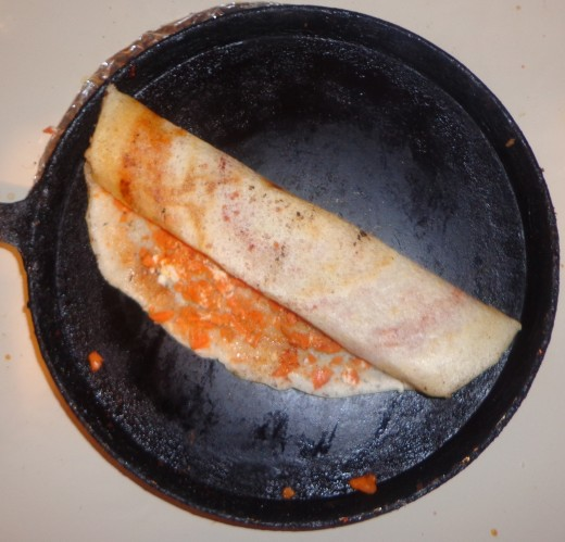 Roll the dosa