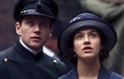 Tom Branson and Lady Sybil Crawley (Allen Leech and Jessica Findlay)