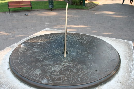 The sundial in the Gardens
