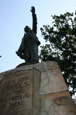 "Cecil John Rhodes proclaiming that ""your hinterland is there!"""