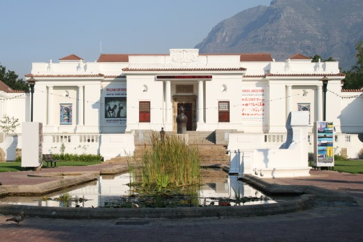 The South African National Gallery, which was started in 1872. The Gallery houses a large collection of artworks dating from the 17th Century to contemporary South African works, including beadwork and sculptures
