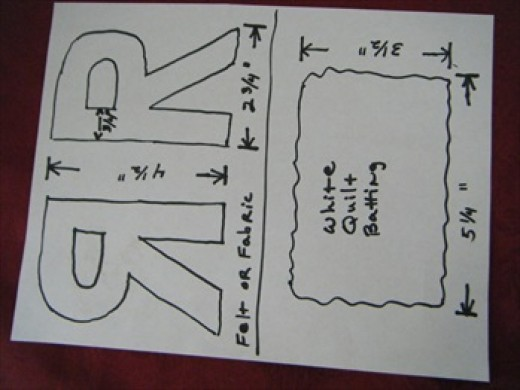 sample Letter and batting pattern
