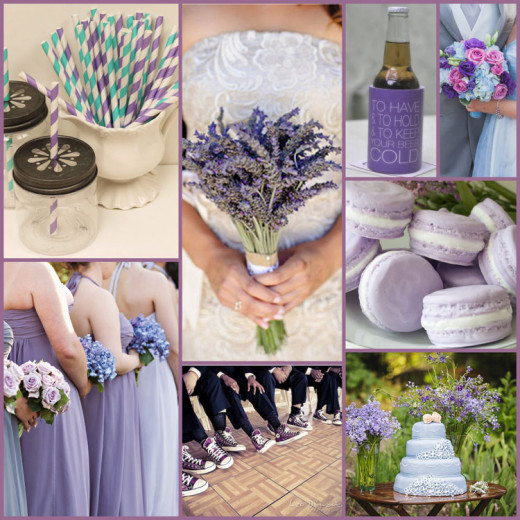 A subtle combination of lavender and cornflower blue with a punch of modern teal makes a gorgeous wedding color combination to impress all of your guests!
