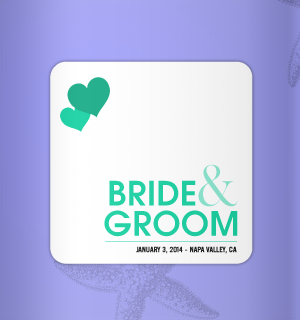 Gorgeous color combination for this koozie design.