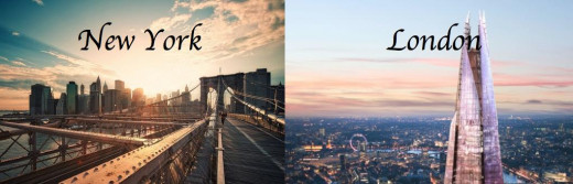New York v/s London