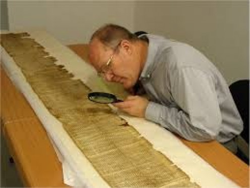 Countless hours have been used studying The Dead Sea Scrolls by religious scholars.