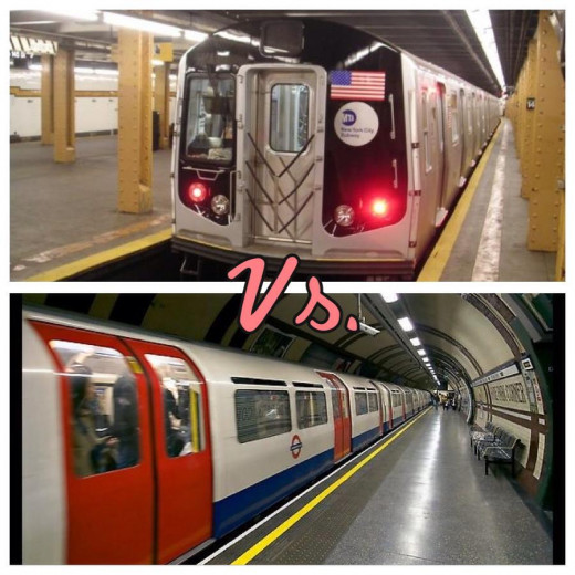 Above is New York's Subway; below is London Tube
