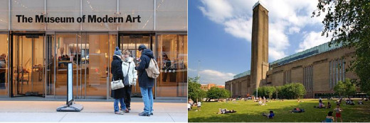 Left is Museum of Modern Art; Right is Tate Modern