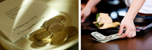 Left is Thank-you Tips; Right is Table Overcharges