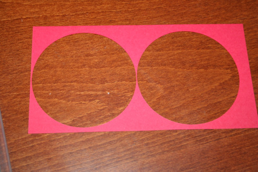 You can get two circles out of the cut cardstock if you place the die cut carefully on the cardstock.