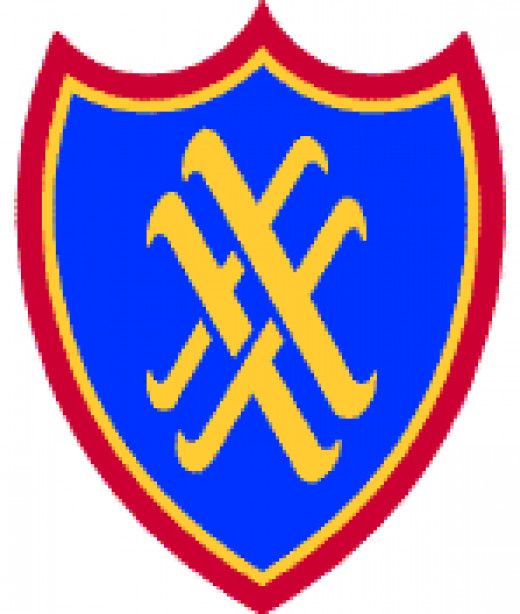 XX Corps shoulder sleeve insignia.
