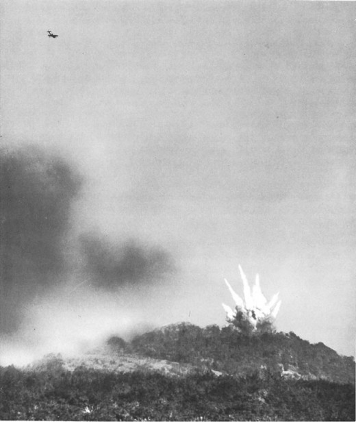 Bombing of Fort Driant by P-47's from the XIX Tactical Air Command.