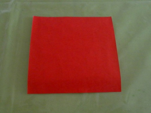 You will need one sheet of red origami paper.