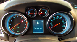 Encore's dash offers ice-blue lighting and a clear, uncluttered view of vital information