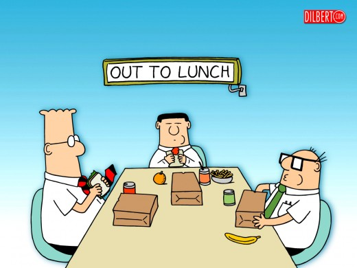 Dilbert Out to Lunch Poster