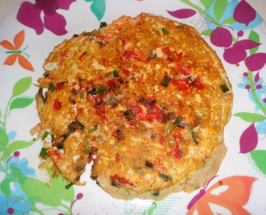 Tasty Spring Onion Egg omelet