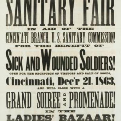 Poster that advertised a Sanitary Fair in Cincinnati