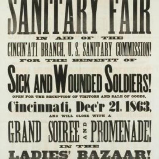 Poster that advertised a Sanitary Fair in Cincinnati