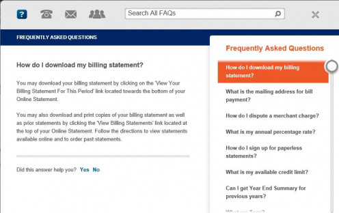 Users are routed to this FAQ page when they click on the Ask a Question link.