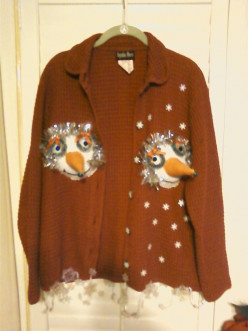 Do you think that this sweater can win an ugliest sweater contest?