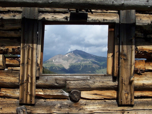 Near Leadille, Colorado.  View from abandoned house, Summit Co.