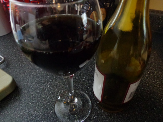 Having a glass of red wine can have health benefits, but you should count it as part of your food intake for the day.