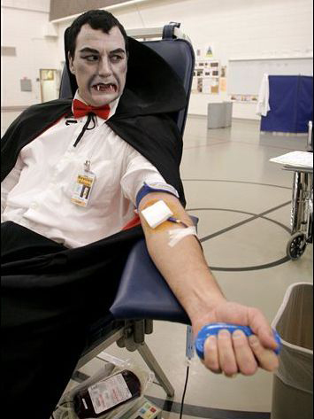 Dracula Giving Blood