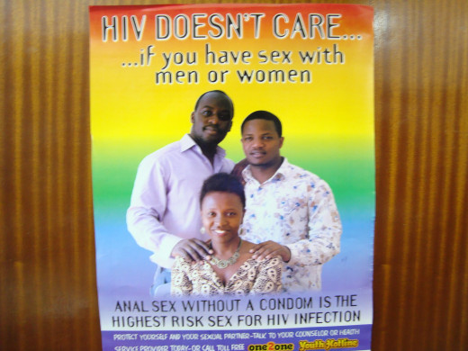 Anti-HIV charts with relevant messages