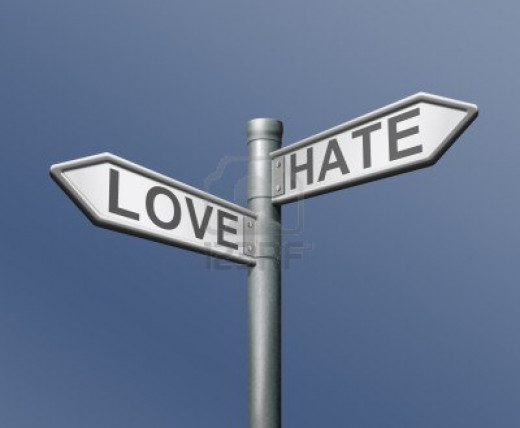 when someone uses you..it can easily turn to hate