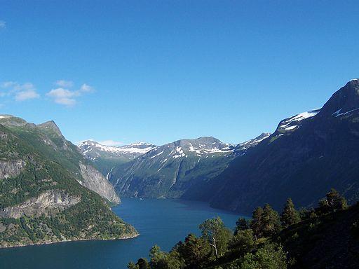 Roger showed us slides of fjords in Norway ...