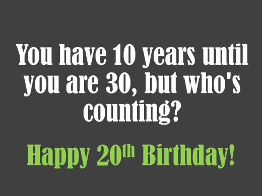 20th Birthday Wishes To Write In A Card
