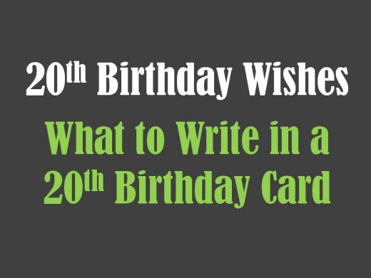 Happy 20th Birthday Wishes Graphics