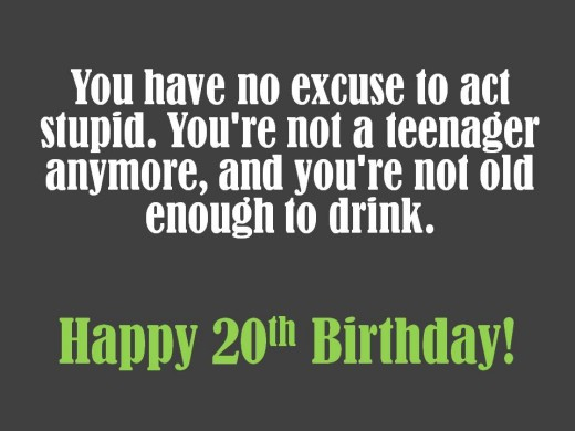 20th Birthday Quotes 20th Birthday Wishes to Write in a Card | Holidappy 20th Birthday Quotes