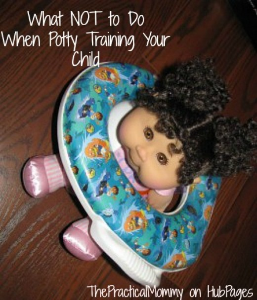 Learn what not to do when potty training your child.