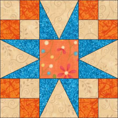 Star Block for South by Southwest. Design in EQ7
