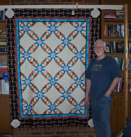 Tall & Handsome standing proudly by the finished top South by Southwest