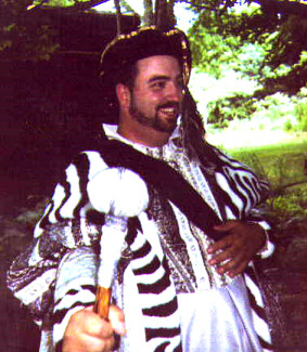 Here I am, in my full regal attire. Man, was it hot! Fortunately, I didn't wear the costume all day, or I would have passed out!