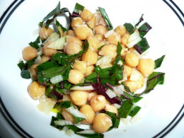 Cickpea and Beet Greens Salad:  Source: http://www.aartibatavia.com/blog/cool-chick-pea-salad-with-beet-greens/