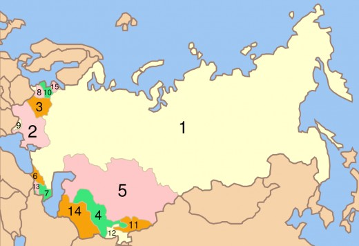 Russia (1) and the Ex-Soviet Republics