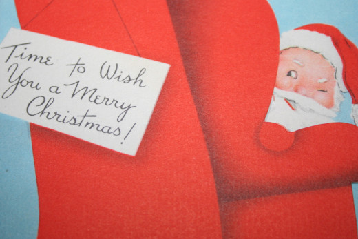 A vintage Christmas card.