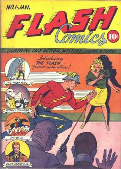 Flash Comics #1 - First appearance of Golden Age Flash and Hawkman