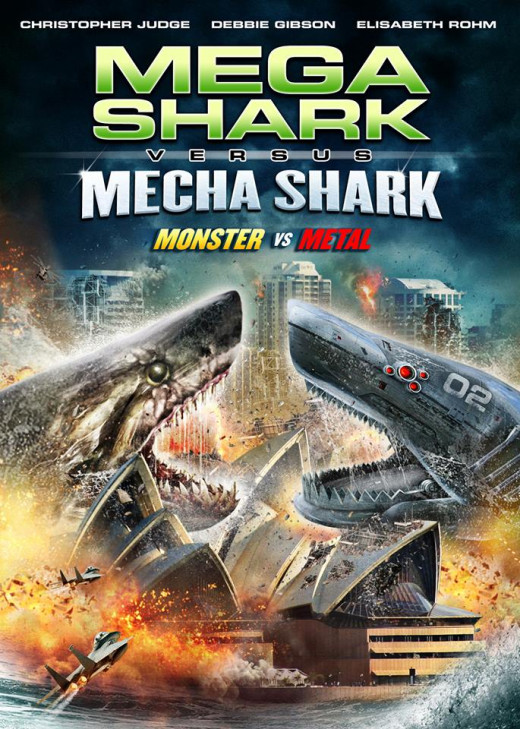 """Mega Shark vs. Mecha Shark"" artwork"