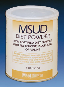 An example of specialized protein powder for a MSUD diet
