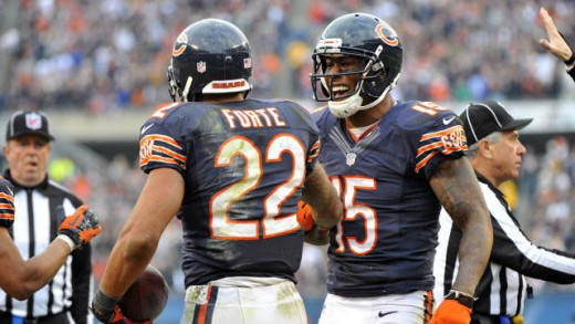 Matt Forte and Brandon Marshall