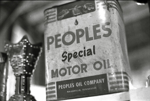 Classic can of motor oil