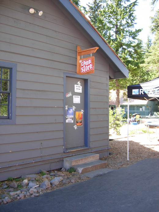 Camp Store, on north side of Main Lodge